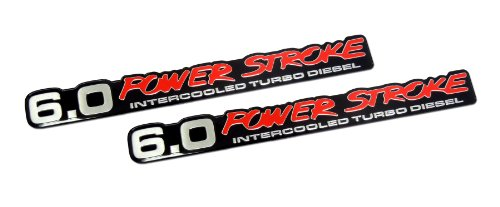 6.0 Liter Ford Truck Van Powerstroke Turbo Diesel Aluminum Emblems - (Turbo Diesel Van)