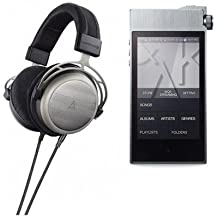 Astell&Kern Beyerdynamic AK T1p Semi-Open Headphones, Special Edition - Bundle AK100 II High Definition Sound System, Smoky Blue