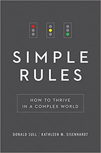 simple rules how to thrive in a complex world donald sull