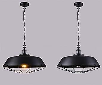 gzloft Vintage lámpara colgante araña plancha de Industrial ...