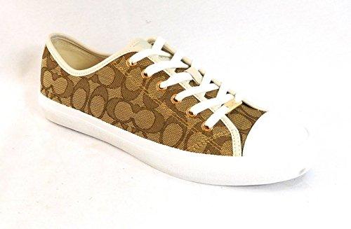 COACH Women's Empire Khaki/Chalk Sneaker 11 M