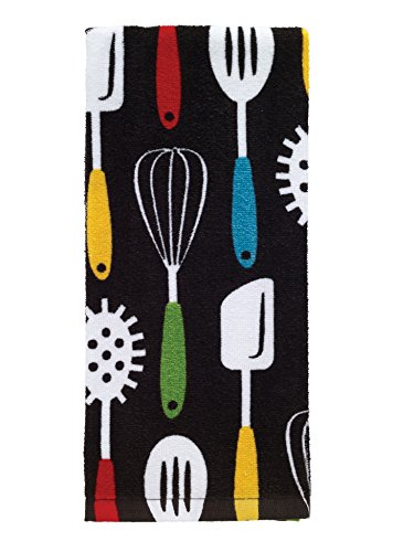 (T-Fal Textiles 100% Cotton Fiber Reactive Printed Kitchen Dish Towel, 19