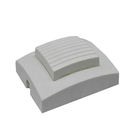Interruptor de pie blanco mate, cuadrado, 250 V/2 A 924051 – Interruptor para lámpara de pie y mesa zuleitungen y conector de cable Soporte Pedal ...