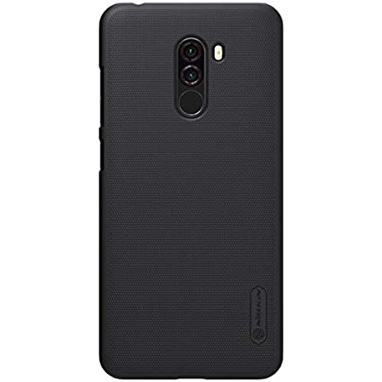 new concept aba01 db4d5 Nillkin Case for Xiaomi Poco Phone F1 F 1 Super Frosted Hard Back Cover  Hard PC Black Color