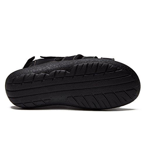 Sandalias Con Calzado De Cuero Con Puntera Abierta Para Hombre, Alaska-08, Negro