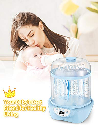 41j7G27VT4L - Elechomes Baby Bottle Sterilizer And Dryer, BPA Free 600W Electric Steam Sterilizer, Fit For 8-Ounce Dr Brown Bottle And Easy To Operate