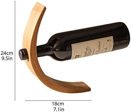 ZRJ Titular De La Botella De Vino Individual del Estante De Vino Rack De Almacenamiento De Vino Encimera De Madera para El Gabinete De La Despensa De La Cocina