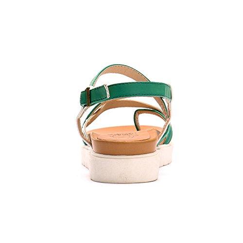 Mujer Sandalias Gladiator Leroy Plataforma con para Verde Alexis 6PzYqwn