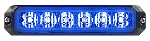 Clear Lens 6 Blue LEDs Surface Mount Federal Signal MPS600U-BB MicroPulseUltra