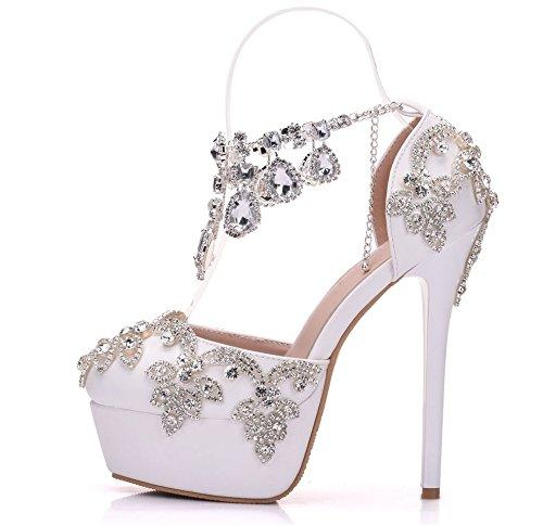 VIVIOO VIVIOO VIVIOO Pumps,Damen Pumpskristallkönigin New Fashion Strass Sandalen Pumps Schuhe Frauen Süße Luxus Plattform Wedges Schuhe Hochzeit Heels High Heels c991a2