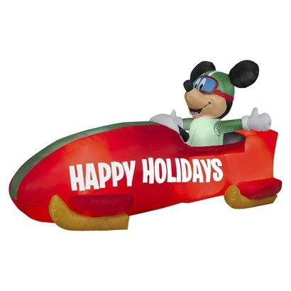 Mickey Mouse in a Bobsled 6 Feet Long 3.5 Feet High