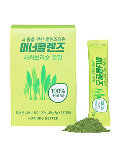 ([INNER CLEANSE] NothingBetter Detox Powder YOUNG BARLEY LEAF POWDER 15EA)