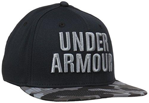 Under Armour Men's Prime Flat Brim Stretch Fit Cap, Black/Graphite, Large/X-Large
