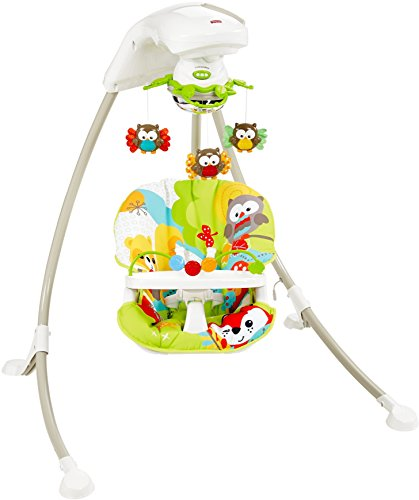 723ea387ad17 Fisher-Price Woodland Friends Cradle  n Swing (B00T8VPWNC)