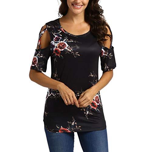 Dotted Front Dress (CUCUHAM Women Printed Crop Top Short Sleeve Tank Top T-Shirt Blouse(Z2-Black,S))