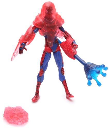 SpiderMan 2010 Series Three 3 3/4 Inch Action Figure Blaster Armor SpiderMan
