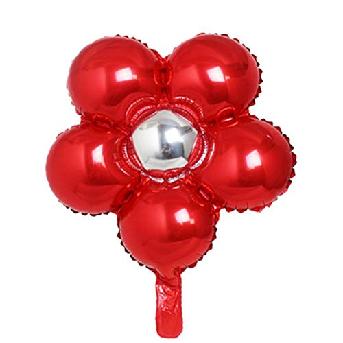 Ballons Accessories - 1pcs Solid Five Flowers Aluminum Foil Balloons Lovely Toys Wedding Favors And Gifts Children 39 S - Foil Metal Stand 50th Flower Banana 40th Green Star Halloween -