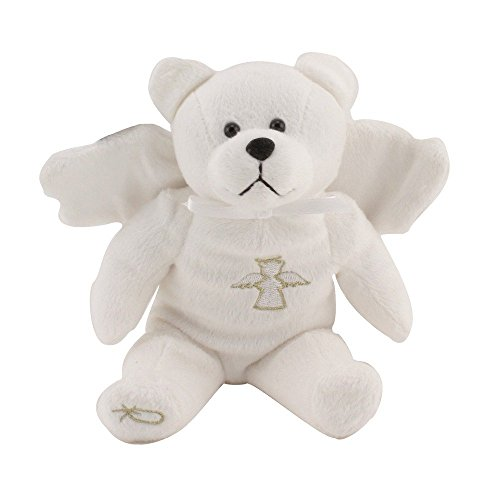 Original Holy Bears White Guardian Angel Bear 9 Inches Plush Psalms 91:11