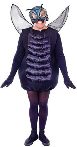 Adult Mens Ladies Black Fly Insect Mini Beast Halloween Animal Fancy Dress Costume Outfit]()