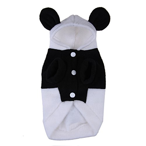 Yosoo Pet Dog Clothes For Dogs Pets Hoodies Cat Sweater Costume Clothing Fleece Panda Ear Hoody Clothes Pullover Coat Costume Cosplay (M)