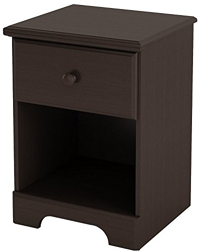 Summer Breeze Collection Nightstand - Chocolate by South (Bedroom Unfinished Nightstand)