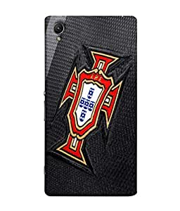 ColorKing Football Portugal 06 Black shell case cover for Sony Xperia Z5