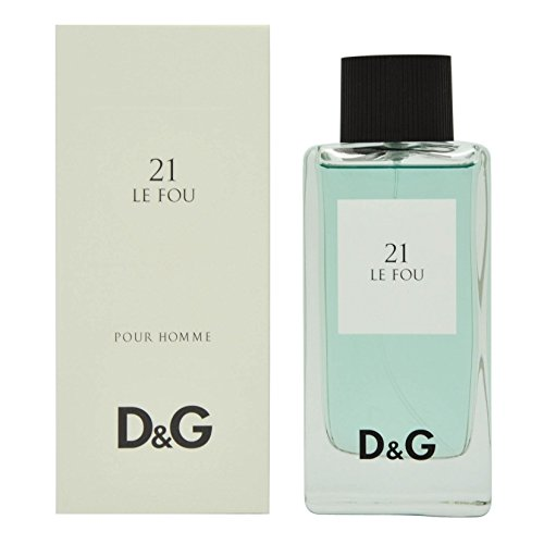 Dolce and Gabbana D and G Le Fou 21 Eau de Toilette Spray for Men, 3.3 - D G The One And