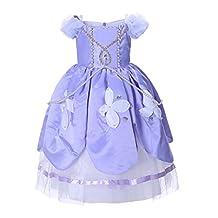 Pettigirl Girls Sophia Sofia Long Fancy Little Princess Dress 110-150cm