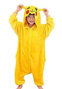 Tonwhar® Pikachu Kigurumi Costumes for Children Kids Cuddly Onesie Pajamas