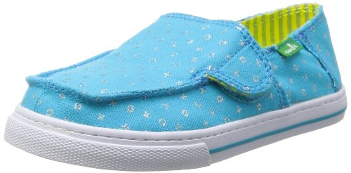 Sanuk Kids Cabrio Sparkle Sidewalk Surfer (Toddler/Little Kid/Big Kid),Ocean,6 M US Big Kid by Sanuk (Image #1)