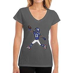 Yong Shop Beckham Jr The Catch Womens T Shirt Casual Cotton Short Sleeve V Neck Graphic T Shirt Tops Tees Deep Heather