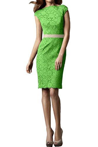 Festkleid Damen Rundkragen Grün Partykleid Spitzenklaider Hochwertig Ivydressing Kurz Abendkleider g4xSqx