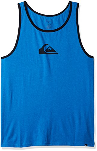 Quiksilver Men's Mountain and Wave Logo Tank, Malibu Heather, (Quiksilver Mens Mountain Wave)