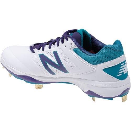 New Balance Faible Chute 4040v3 Packout Pack Amorti Métal Baseball Taquet Blanc-violet-bleu