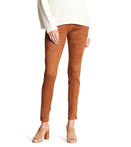 (Jag Jeans Women's Olive Pull-On Skinny Pant in Machine Washable Faux Suede Saddle Brown Pants)