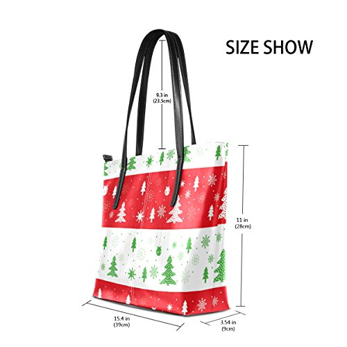 Fashion Leather Christmas Totes Handbag Bags Handle TIZORAX Top Shoulder PU Women's Purses Trees qxZXXSO