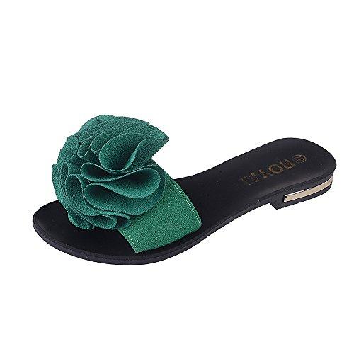 [해외]여성 비치 신발, Mosunx (TM) 플라워 플랫 샌들 슬립 내성 슬리퍼 샌들/Women Beach Shoes, Mosunx(TM) Flower Flat Sandals Slip Resistant Slippers Sa