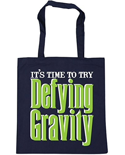 HippoWarehouse to Beach litres Defying Time 42cm Try Gravity x38cm It's Shopping Tote French Gym Bag Navy 10 4wErUq4xz