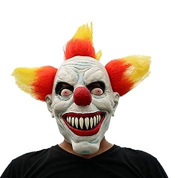 Pelo rojo Payaso de terror con máscara para el cabello - Perfecto para Carnaval, Carnaval