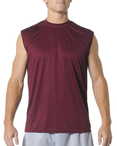 A4 Adult Cooling Performance Muscle T-Shirt, Maroon, XX-Large ()