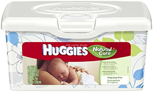 Huggies Natural Care Baby Wipes, 256 Total Wipes 64 Count (Pack of 4)