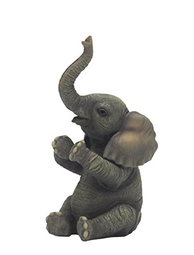 Baby Elephant Sitting and Clapping Applauding Mini 3.75