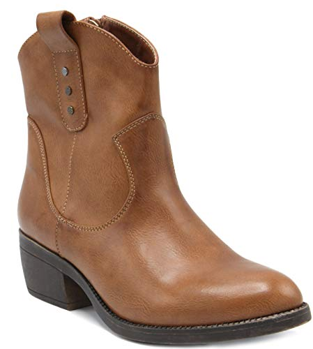 Side Zip Mid with Rampage Western Boot Calf Ladies Shaft Coganc Low Thriller Women's wH4fPIqv