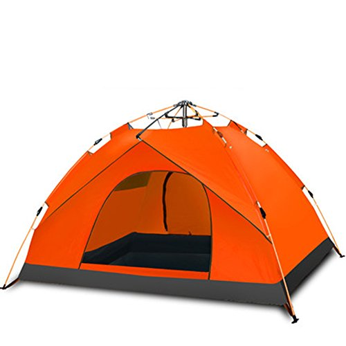 君主位置づける肺マ?チョン テント ドームテントキャンプ自動防水油圧テント2人は簡単にインストールし、パッケージ (色 : Orange)