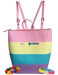 American Jewel Yummy Gummy Scented Bucket Zipper Backpack w/ Pom Pom and Charm Bracelet