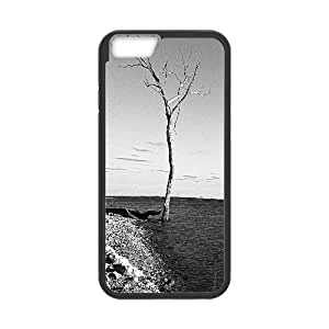 Iphone 6 Plus Case, bare wood Case for Iphone 6 Plus 5.5 screen Black tcj569970 tomchasejerry
