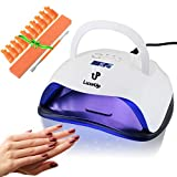 LuxeUp 80W UV LED Nail Gel Polish Curing Lamp | Professional Upgrade Design Dual Nail Art Light Set with Motion Detector Fast Dryer Technology