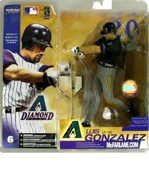 McFarlane Toys MLB Sportspicks Series 6: Luis Gonzalez (Arizona Diamondbacks) Black