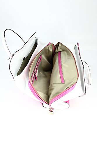 Belli - Bolso de asas para mujer negro negro Blanco Rosa