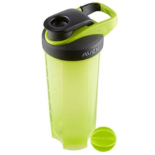 Avex MixFit Shaker Bottle 28 oz. with Loop Clip Top - Electric Green/ Black ()